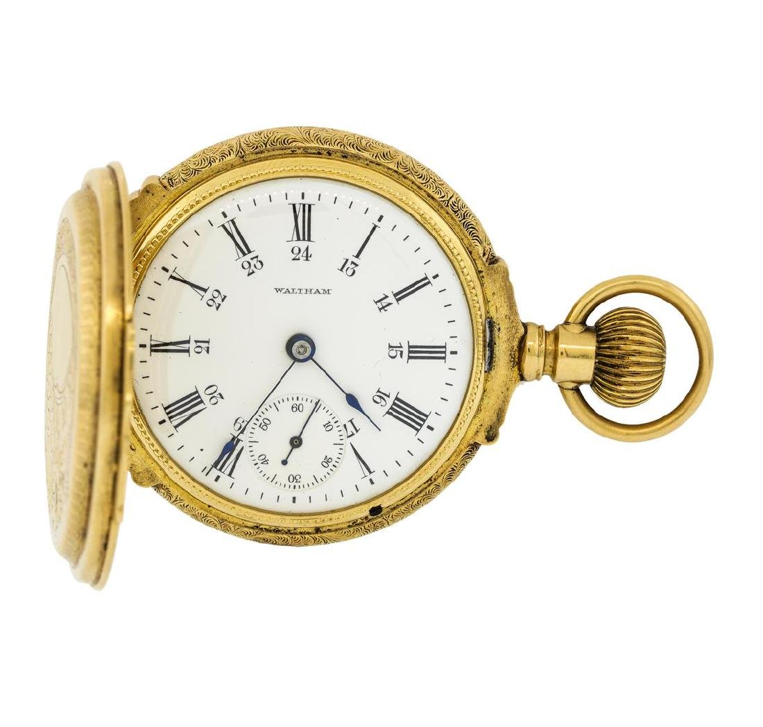 Vintage Waltham Pocket Watch - 14KT Yellow Gold - 3