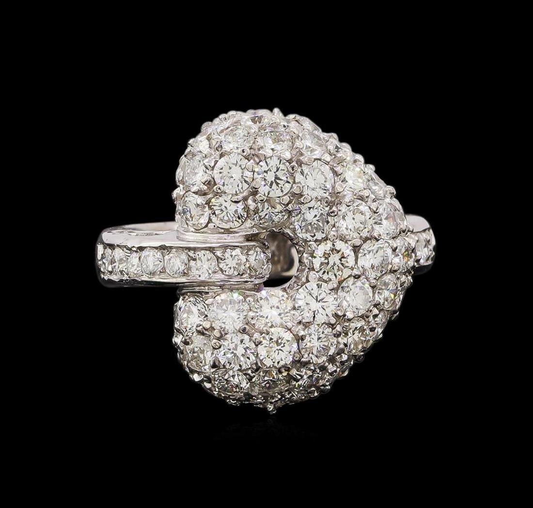 14KT White Gold 1.74 ctw Diamond Ring - 2
