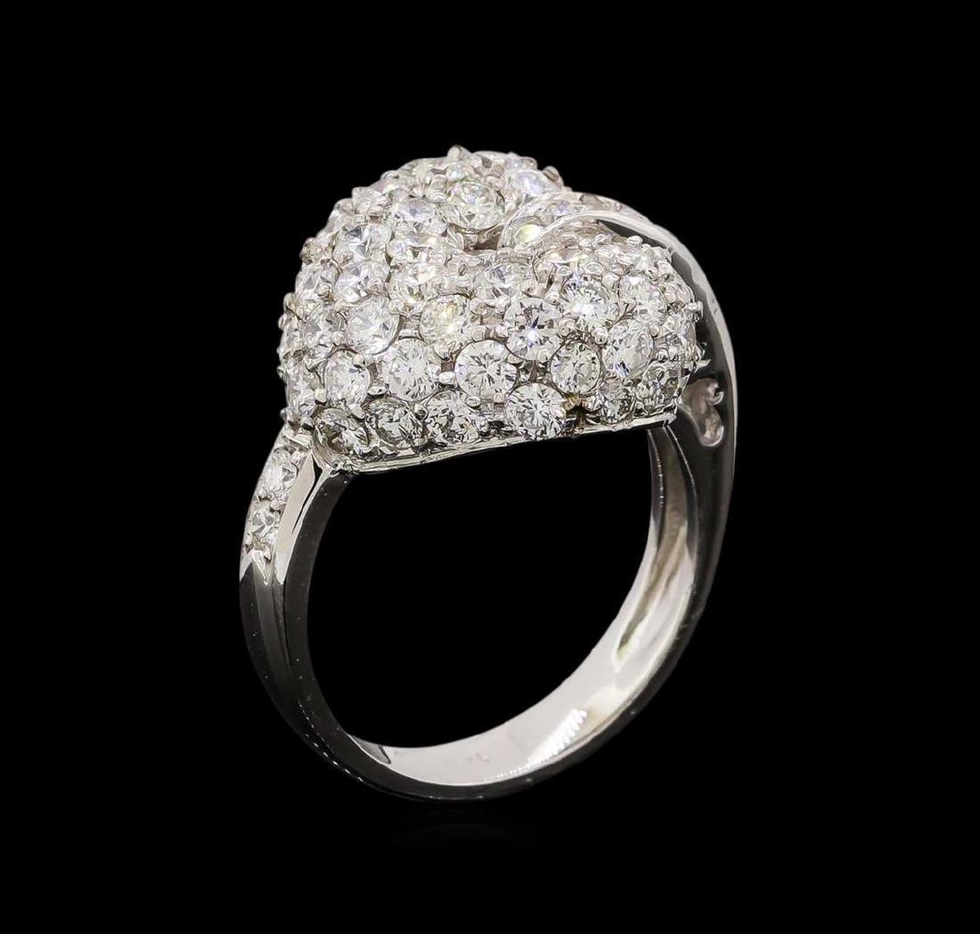 14KT White Gold 1.74 ctw Diamond Ring - 4