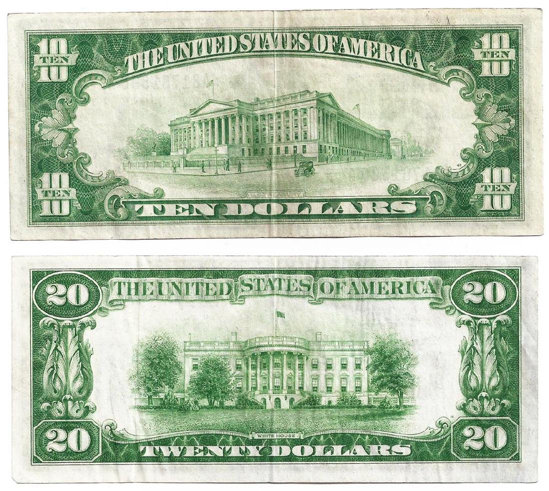 Lot of 1928B $10 & $20 Federal Reserve Notes - 2