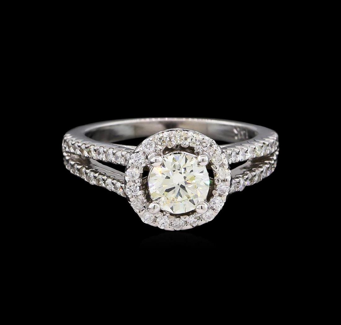 1.18 ctw Diamond Ring - 14KT White Gold - 2