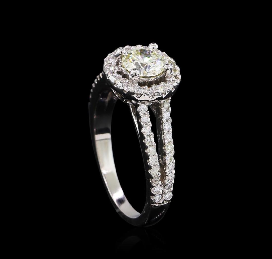 1.18 ctw Diamond Ring - 14KT White Gold - 4