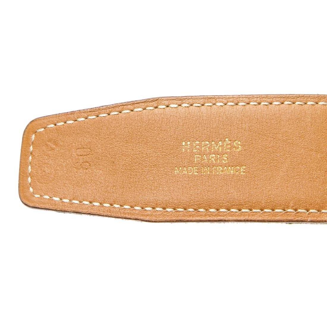 Hermes Green Leather Reversible Constance H Belt 60 - 7