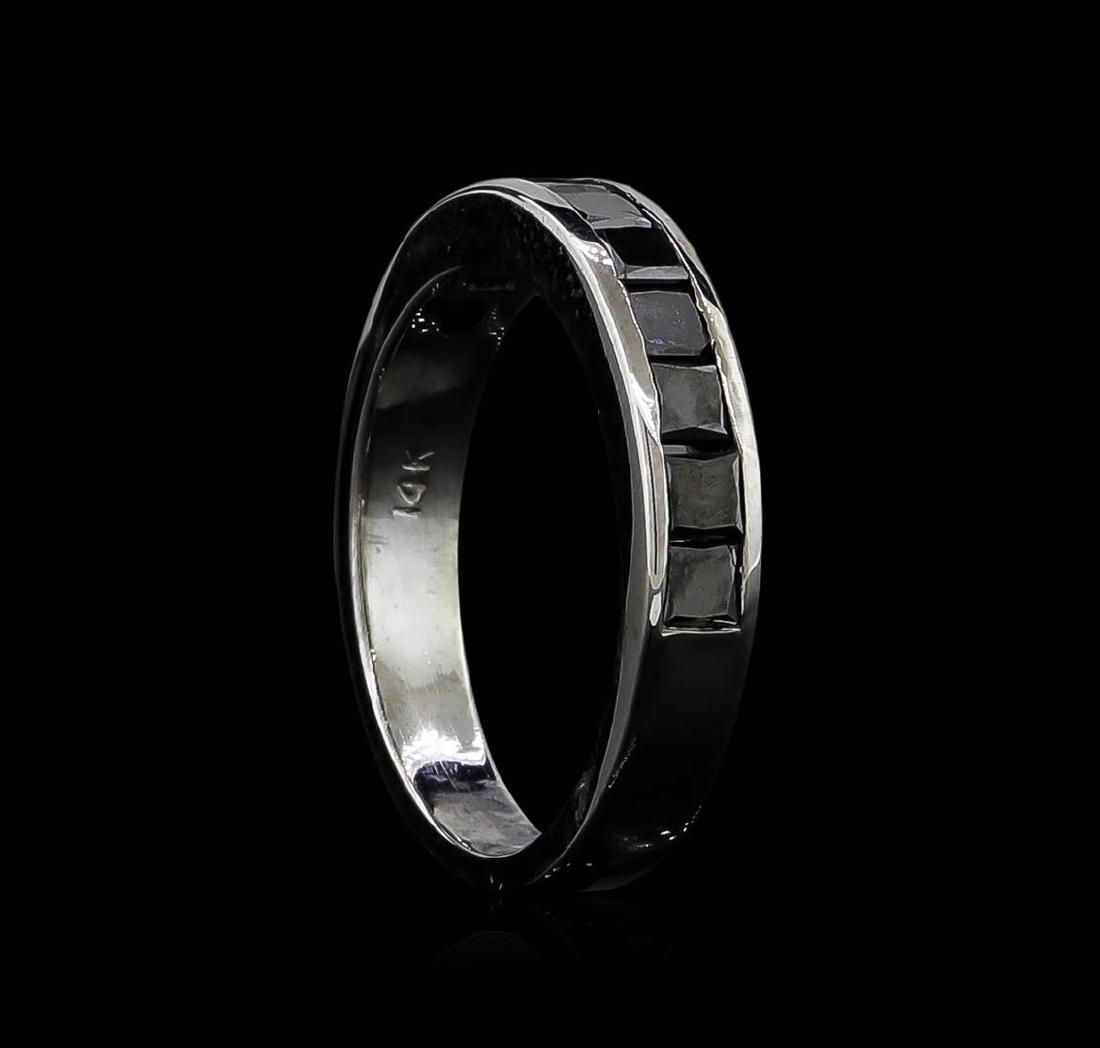 1.00 ctw Black Diamond Ring - 14KT White Gold - 3