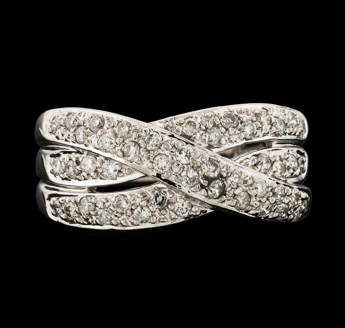 0.50 ctw Diamond Ring - 14KT White Gold - 2