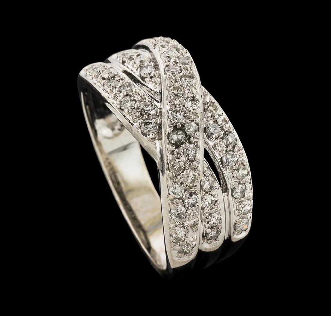 0.50 ctw Diamond Ring - 14KT White Gold - 4