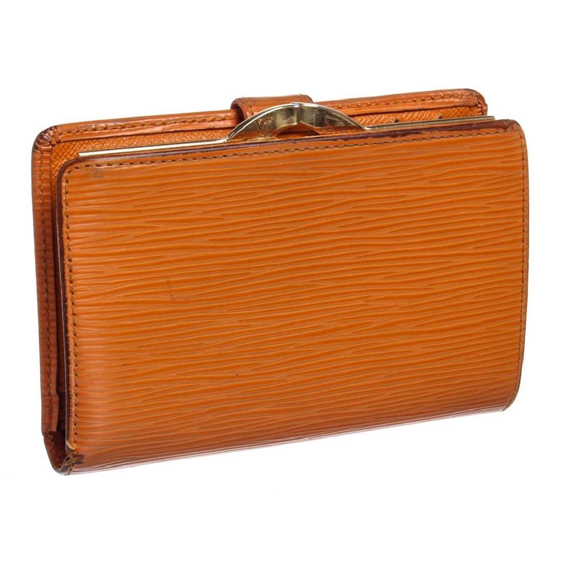Louis Vuitton Orange Epi Leather French Purse Wallet - 2