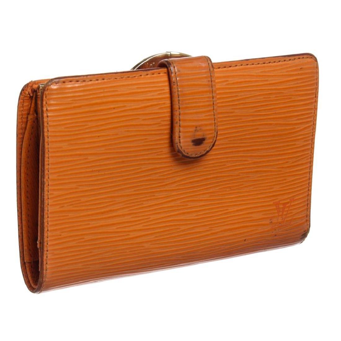 Louis Vuitton Orange Epi Leather French Purse Wallet - 3