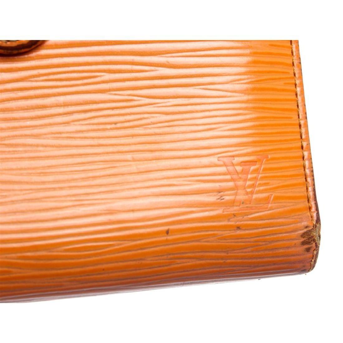 Louis Vuitton Orange Epi Leather French Purse Wallet - 4