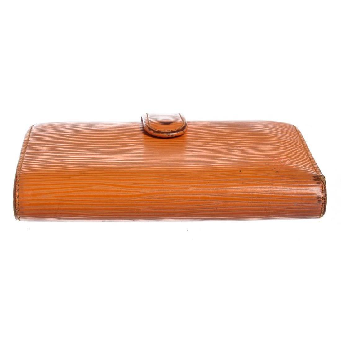 Louis Vuitton Orange Epi Leather French Purse Wallet - 5