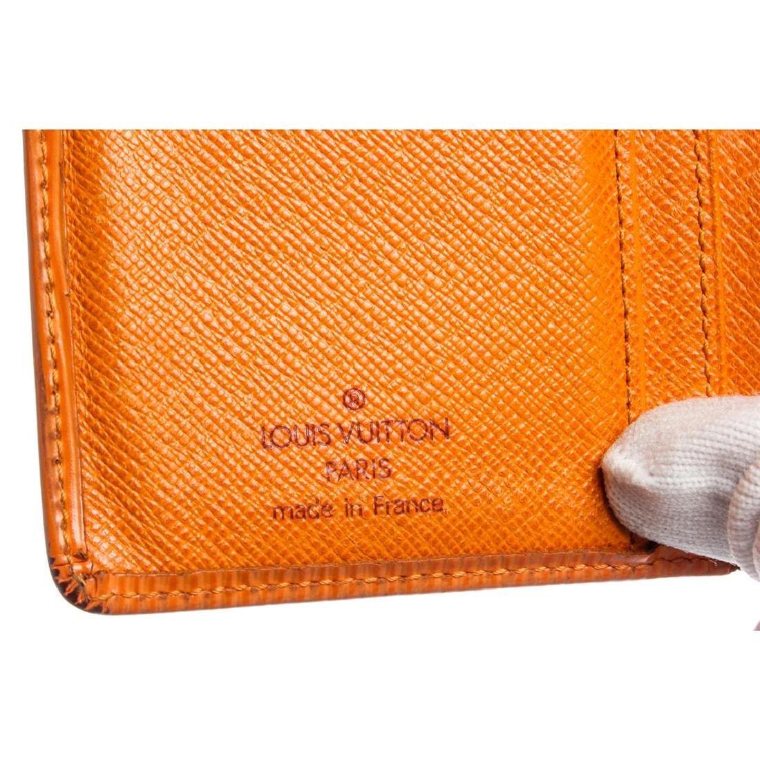 Louis Vuitton Orange Epi Leather French Purse Wallet - 6