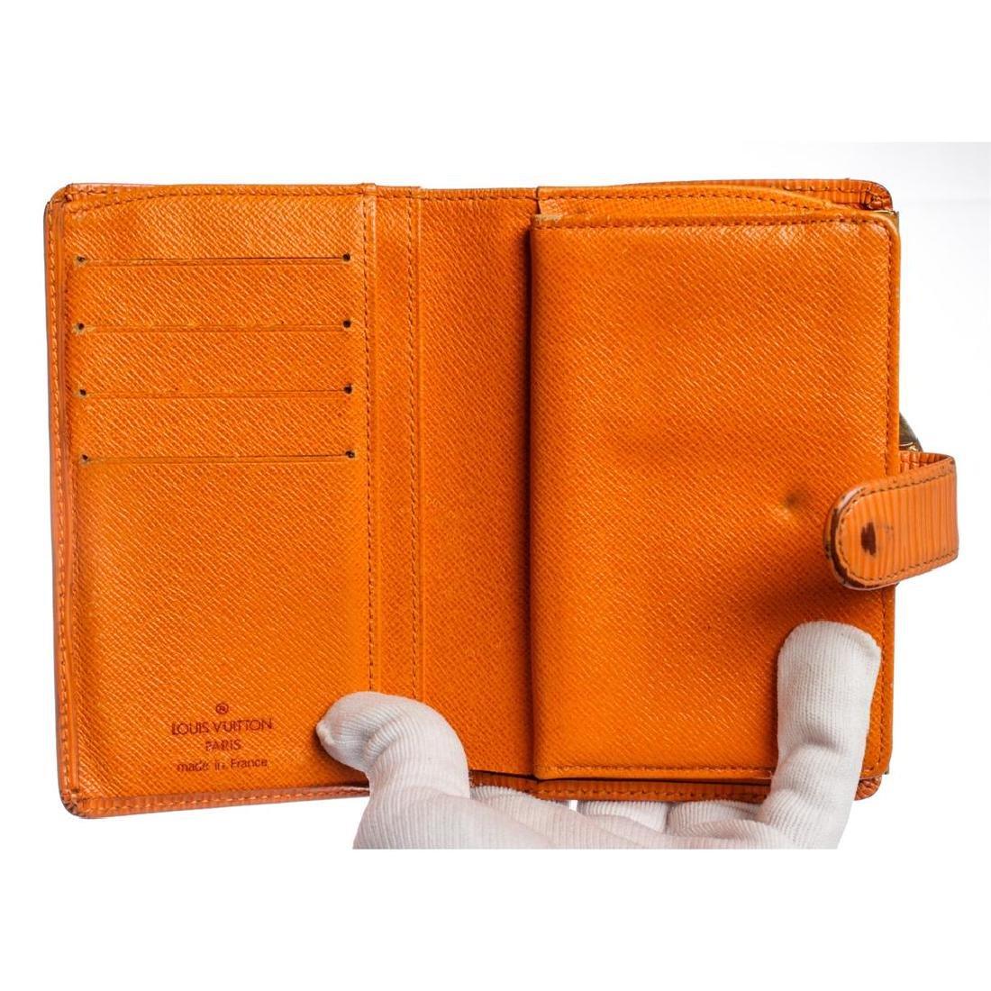 Louis Vuitton Orange Epi Leather French Purse Wallet - 8
