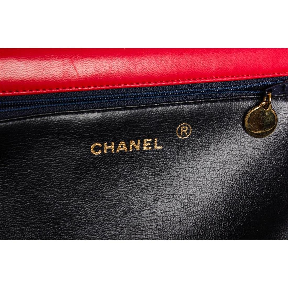 Chanel Red Quilted Lambskin Leather Flap Shoulder - 8