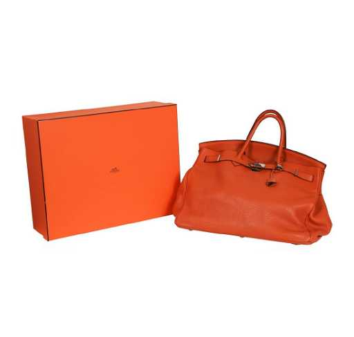 d305150761 Hermes Orange Birkin 40 Handbag - Circa 2005