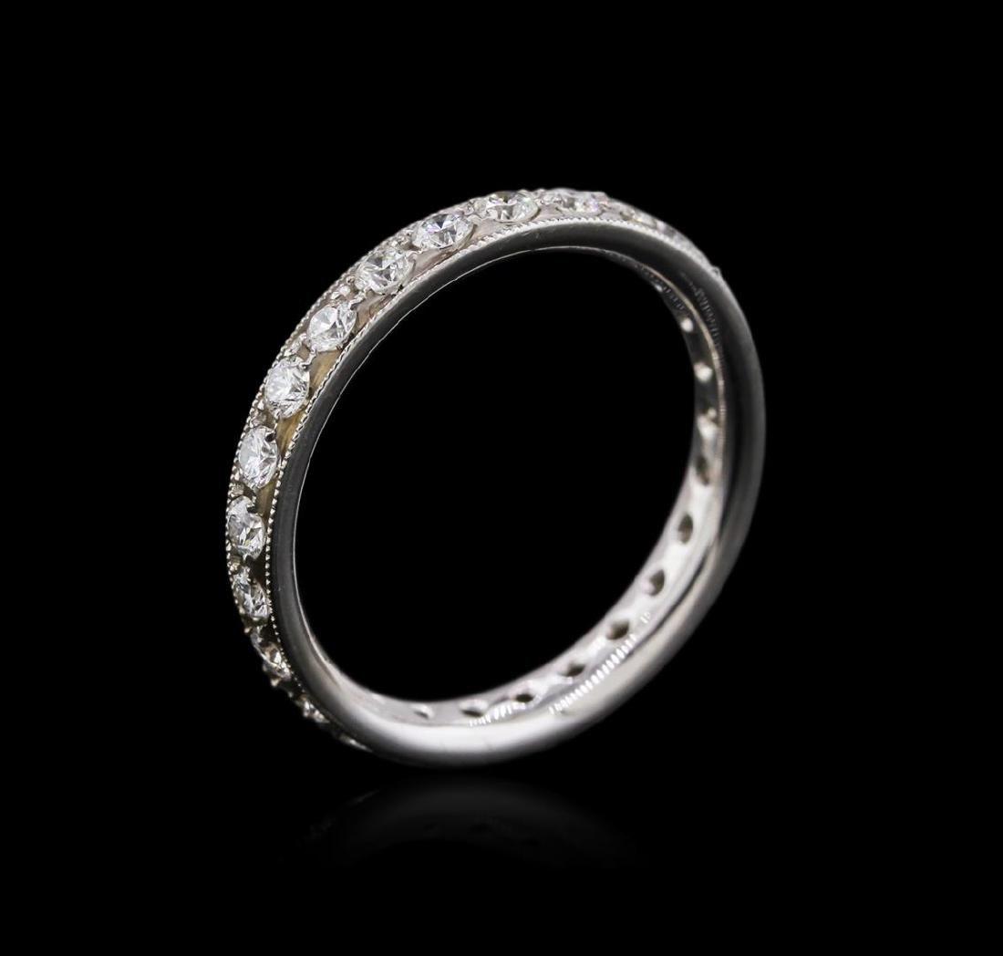14KT White Gold 0.94 ctw Diamond Ring