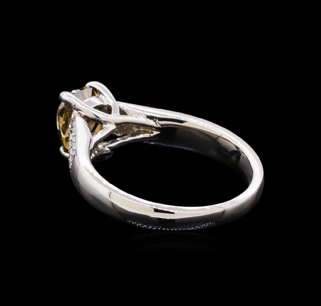 1.28 ctw Diamond Ring - 14KT White Gold - 3