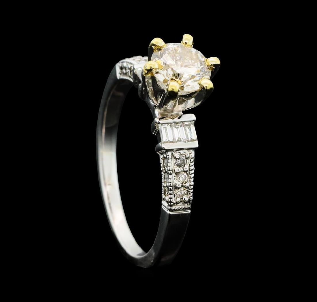1.01 ctw Diamond Ring - 18KT Yellow And White Gold - 4