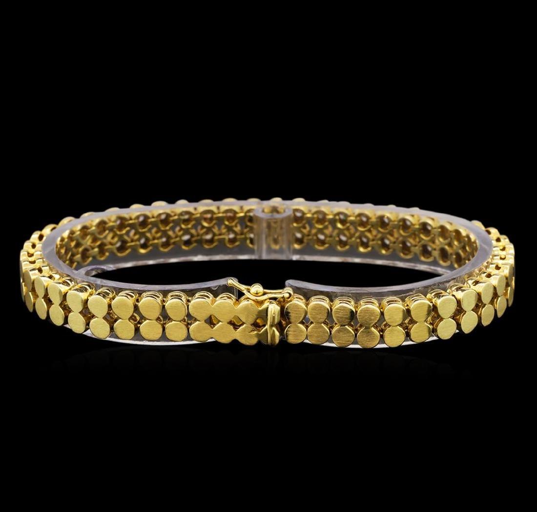 14KT Yellow Gold 1.04 ctw Diamond Bracelet - 2