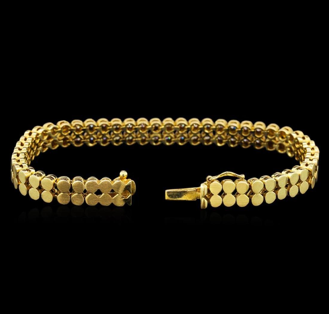 14KT Yellow Gold 1.04 ctw Diamond Bracelet - 3