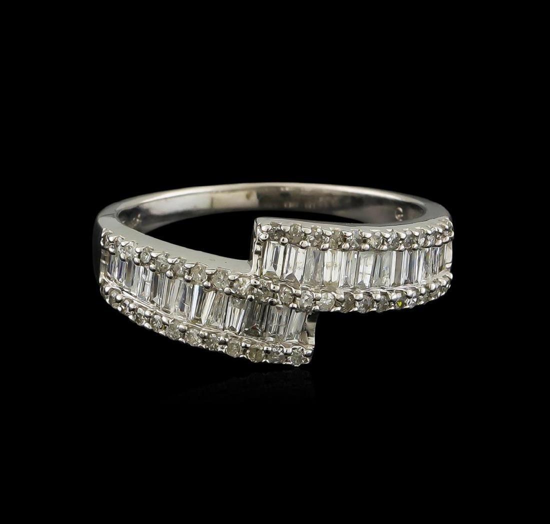 1.00 ctw Diamond Ring - 14KT White Gold - 3