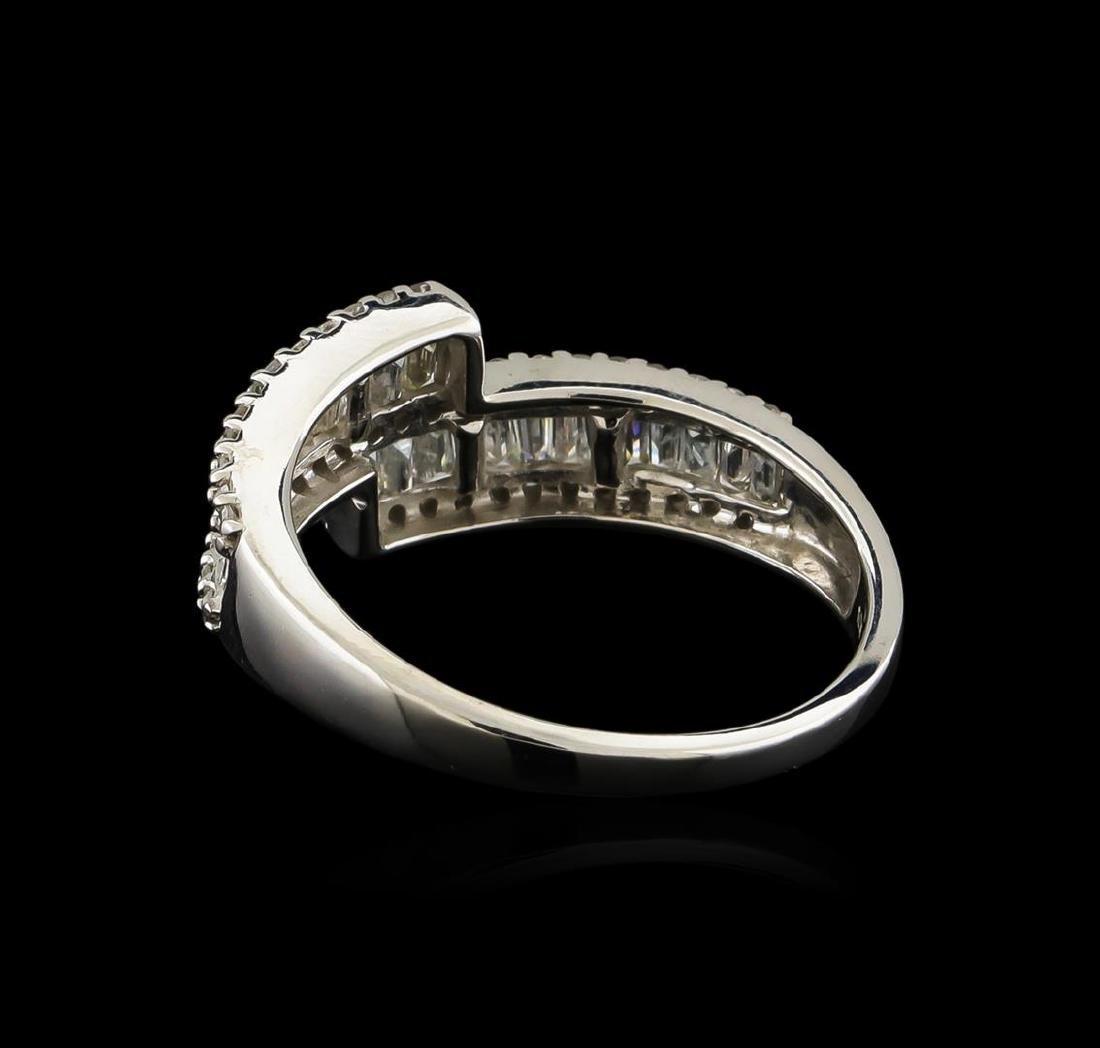 1.00 ctw Diamond Ring - 14KT White Gold - 4
