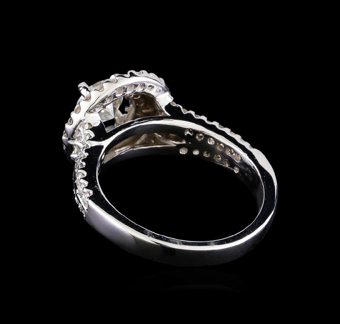1.33 ctw Diamond Ring - 14KT White Gold - 3
