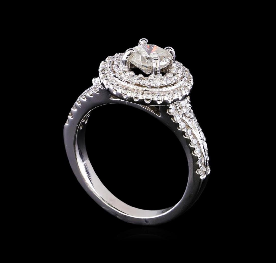 1.33 ctw Diamond Ring - 14KT White Gold - 4