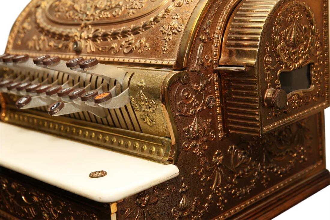 Vintage Brass National Cash Register - 4