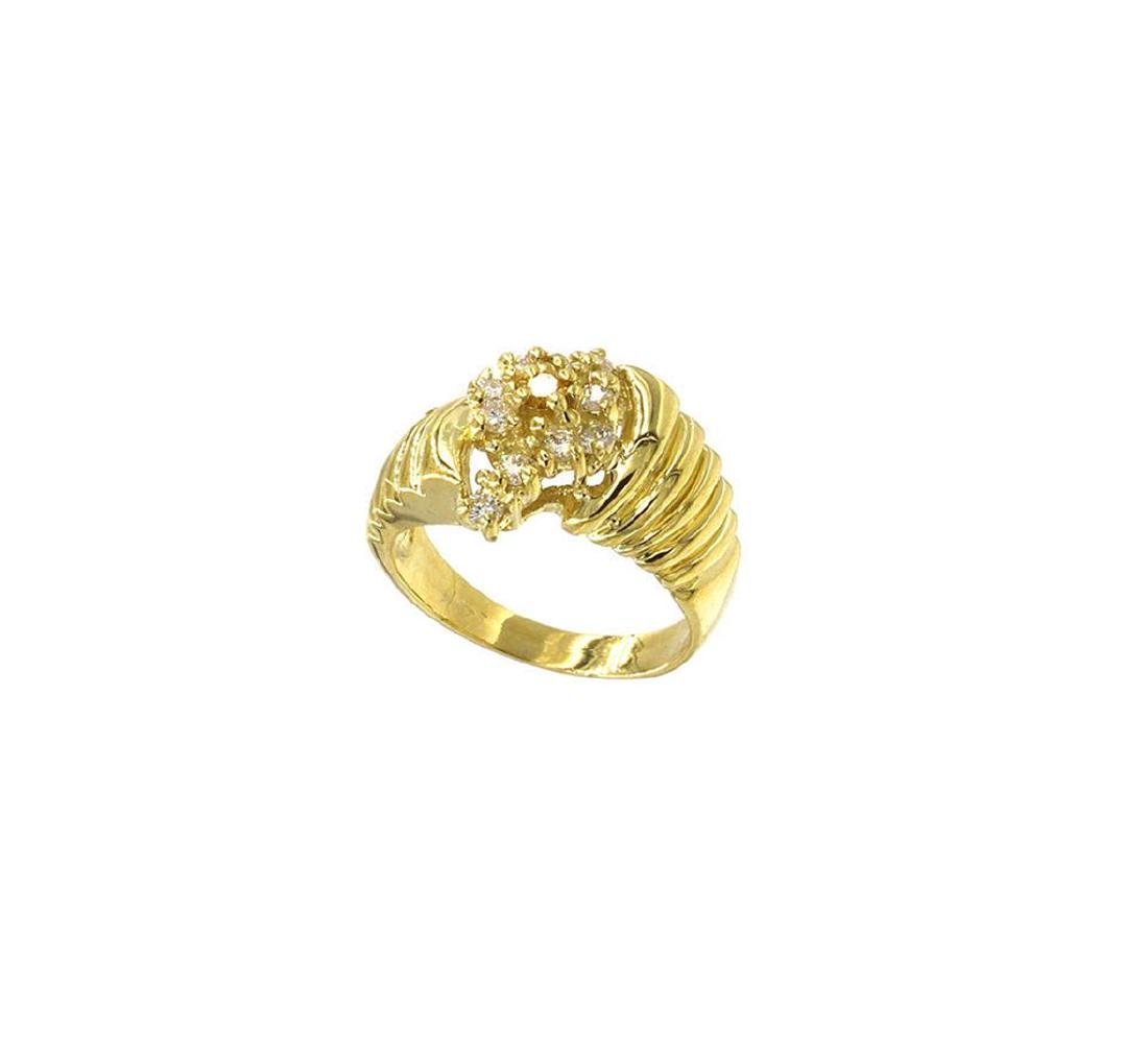0.25 ctw Diamond Cocktail Ring - 14KT Yellow Gold - 3