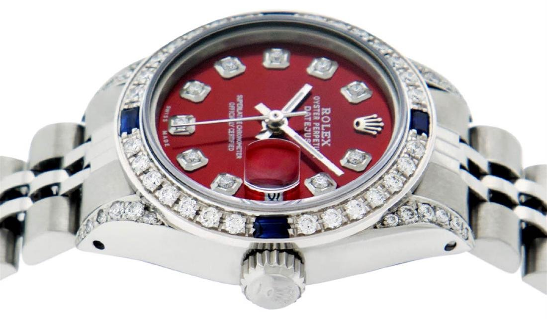 Rolex Ladies Stainless Steel Diamond Lugs & Sapphire - 3