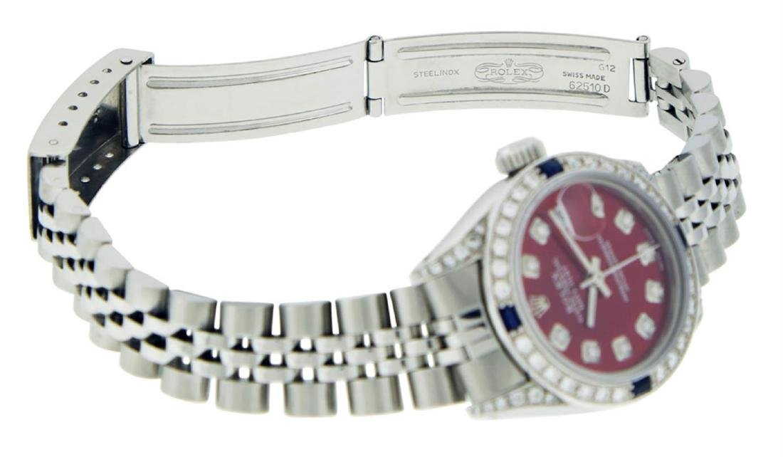 Rolex Ladies Stainless Steel Diamond Lugs & Sapphire - 7