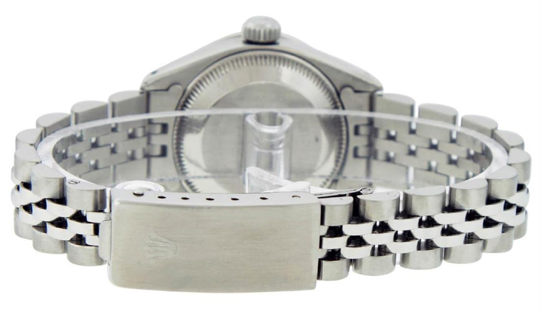 Rolex Ladies Stainless Steel Diamond Lugs & Sapphire - 8