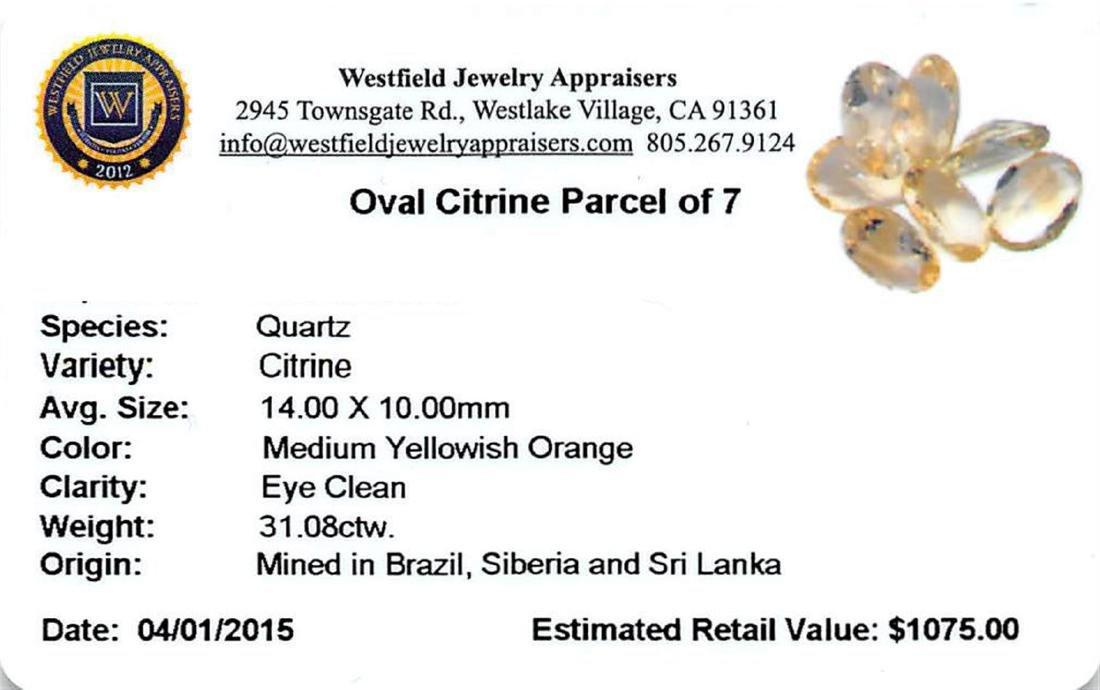31.08 ctw Oval Mixed Citrine Quartz Parcel - 2
