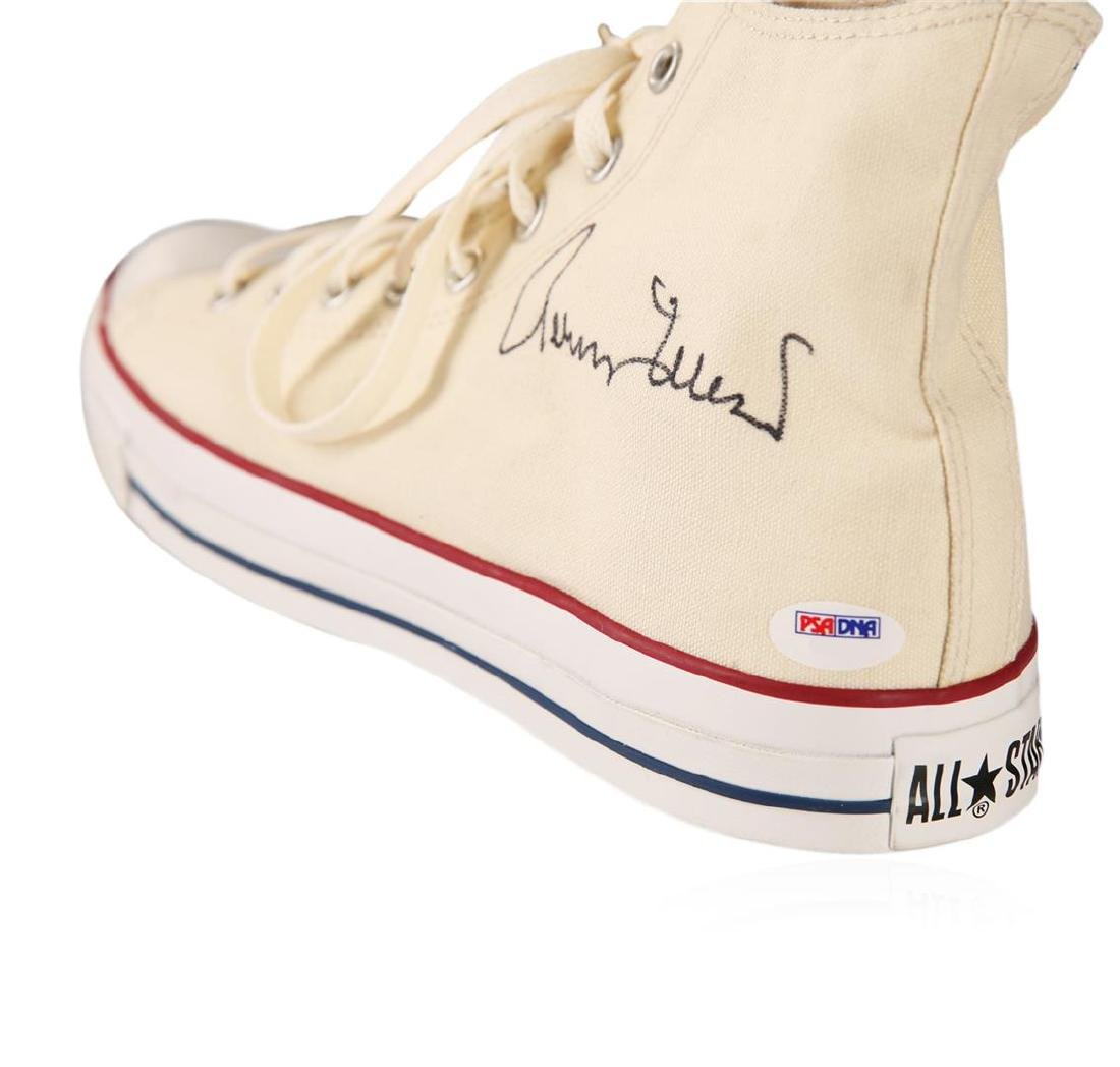 PSA Certified Jerry West Autographed Shoe - 2