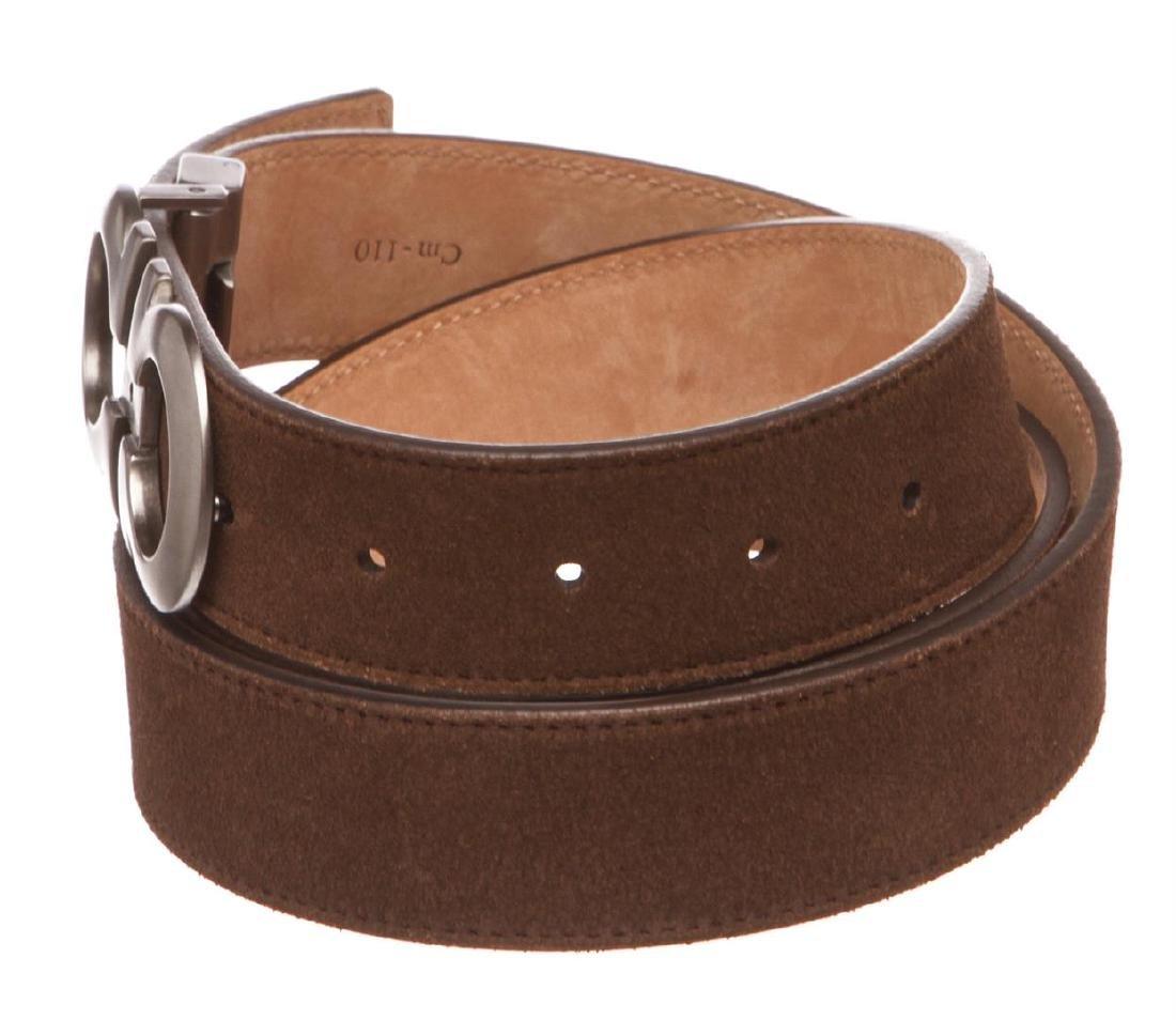 Salvatore Ferragamo Gancini Brown Leather Belt - 4