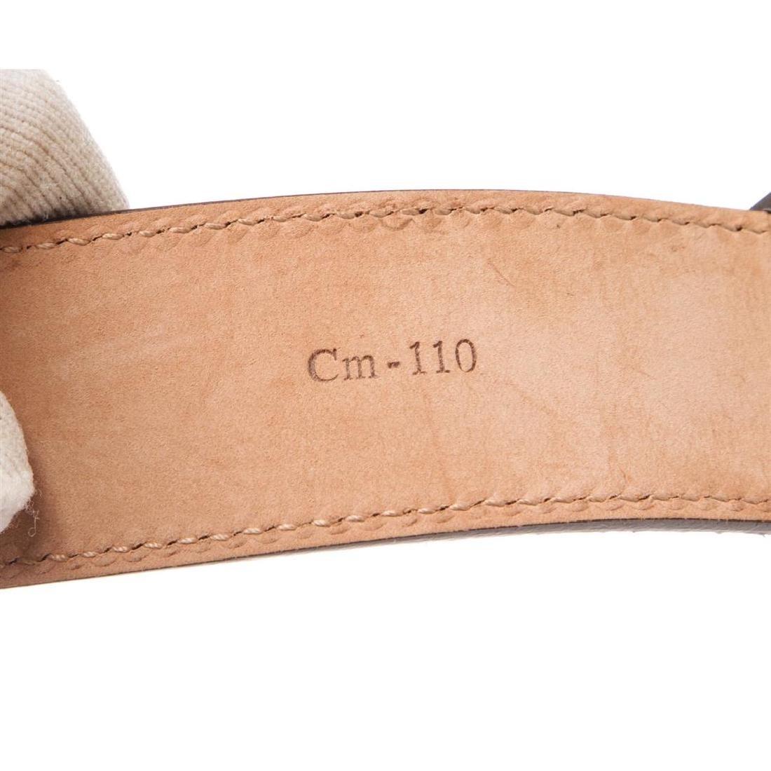 Salvatore Ferragamo Gancini Brown Leather Belt - 9