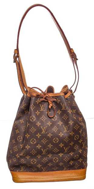 a58669e2b510 Louis Vuitton Monogram Canvas Leather Noe GM Drawstring