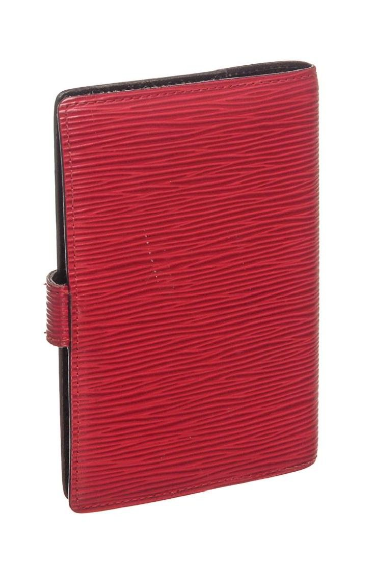 Louis Vuitton Red Epi Leather Small Ring Agenda Holder - 2