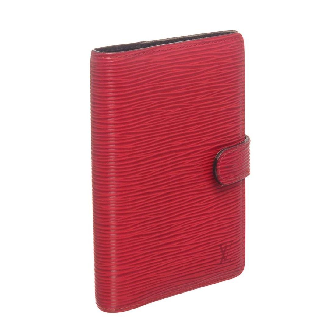 Louis Vuitton Red Epi Leather Small Ring Agenda Holder - 7