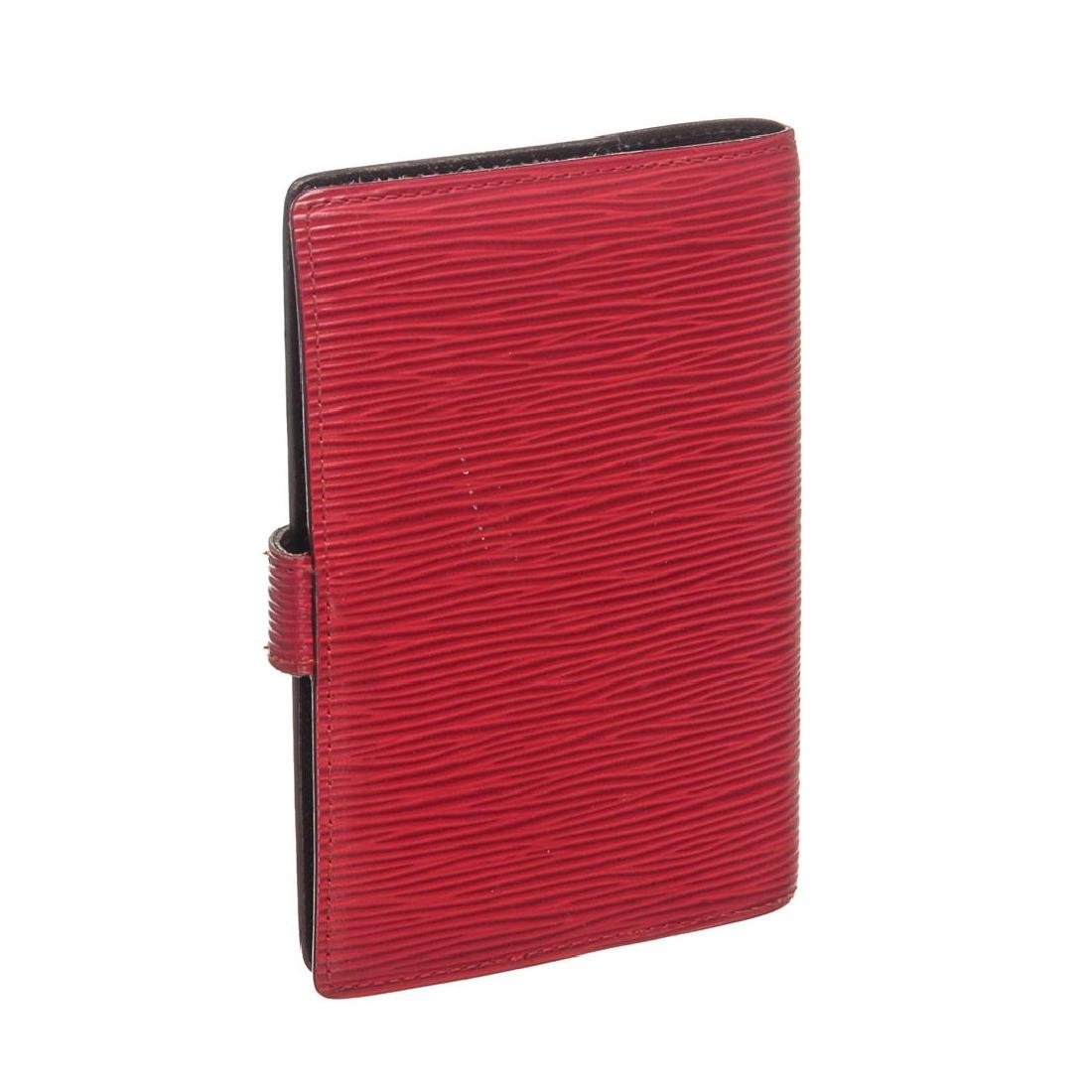 Louis Vuitton Red Epi Leather Small Ring Agenda Holder - 8