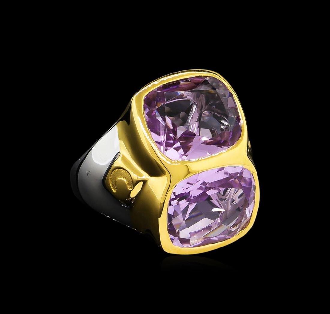Crayola 8.90 ctw Pink Amethyst Ring - .925 Silver