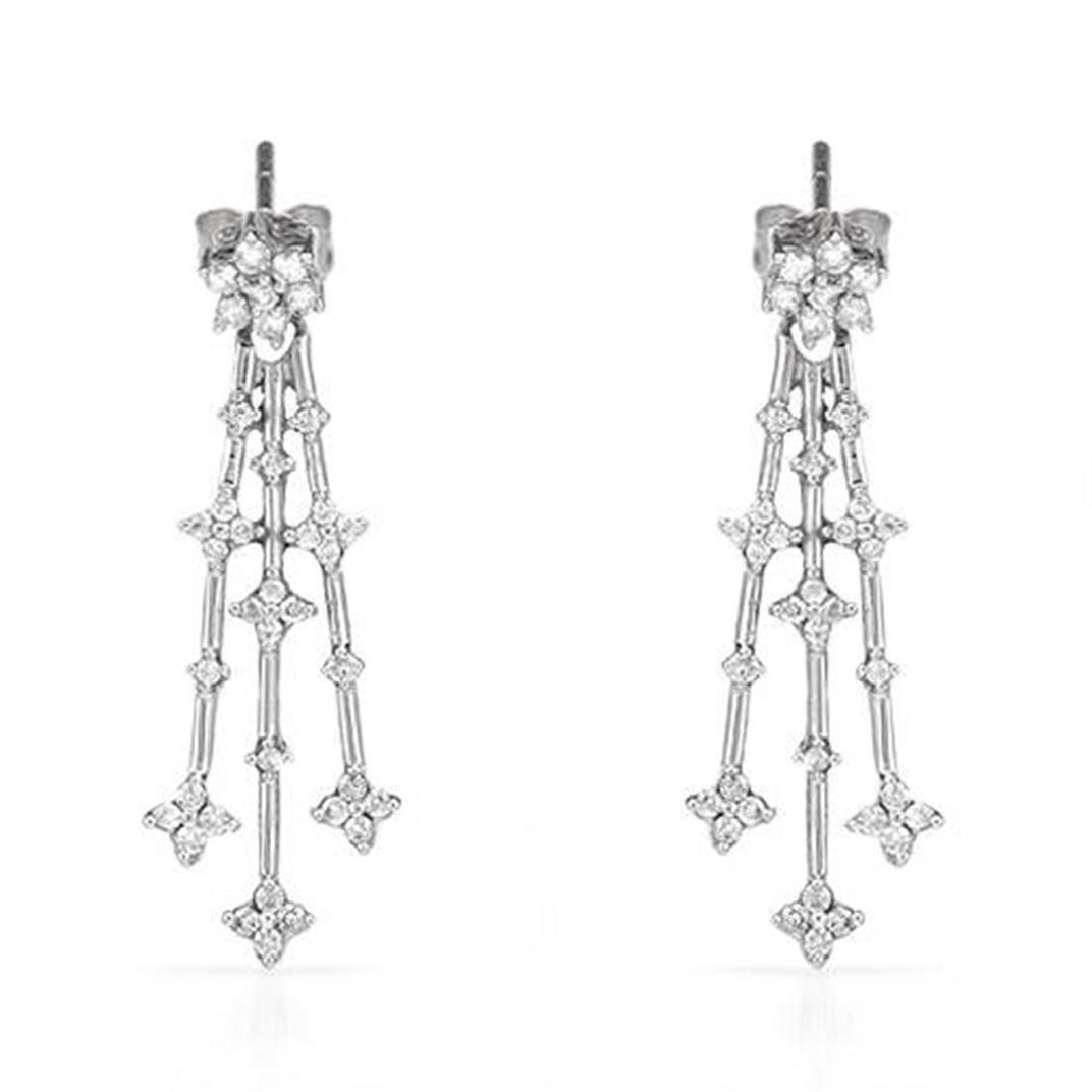 14k White Gold 0.50CTW Diamond Earring, (I1-I2/G-H)