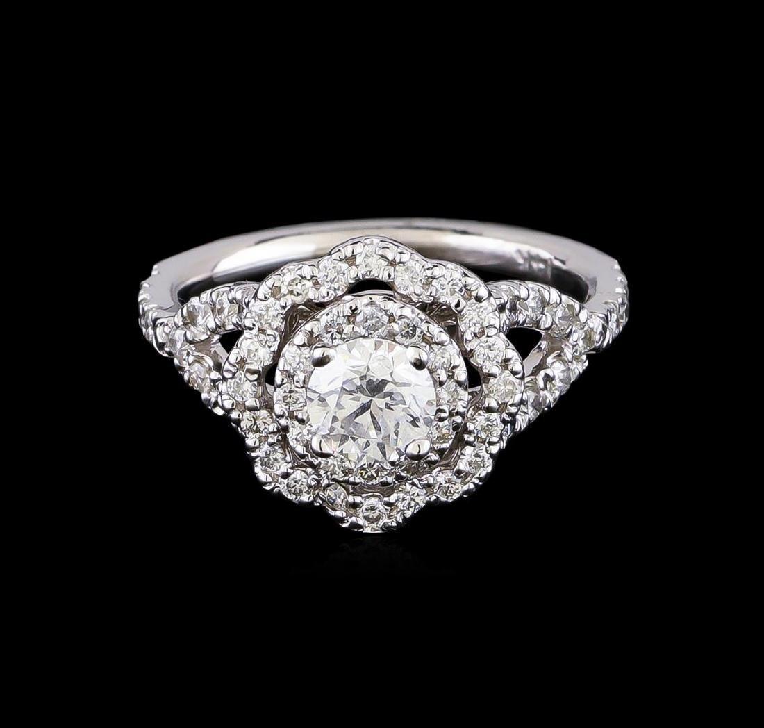1.25 ctw Diamond Ring - 14KT White Gold - 2