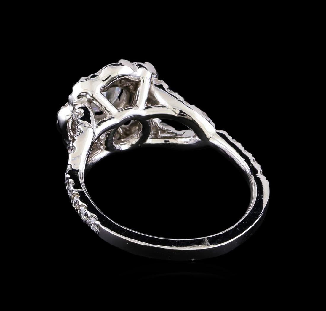 1.25 ctw Diamond Ring - 14KT White Gold - 3