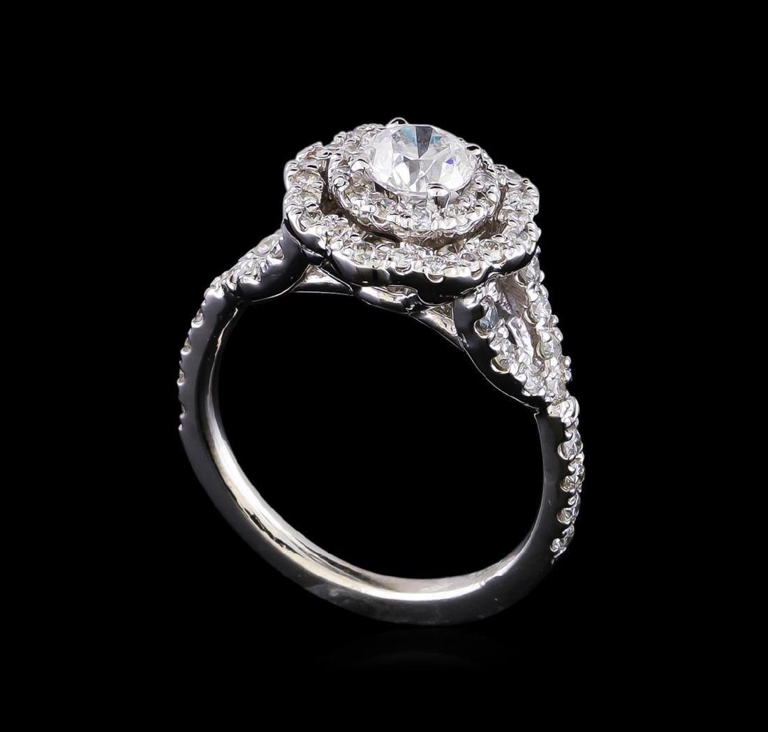 1.25 ctw Diamond Ring - 14KT White Gold - 4