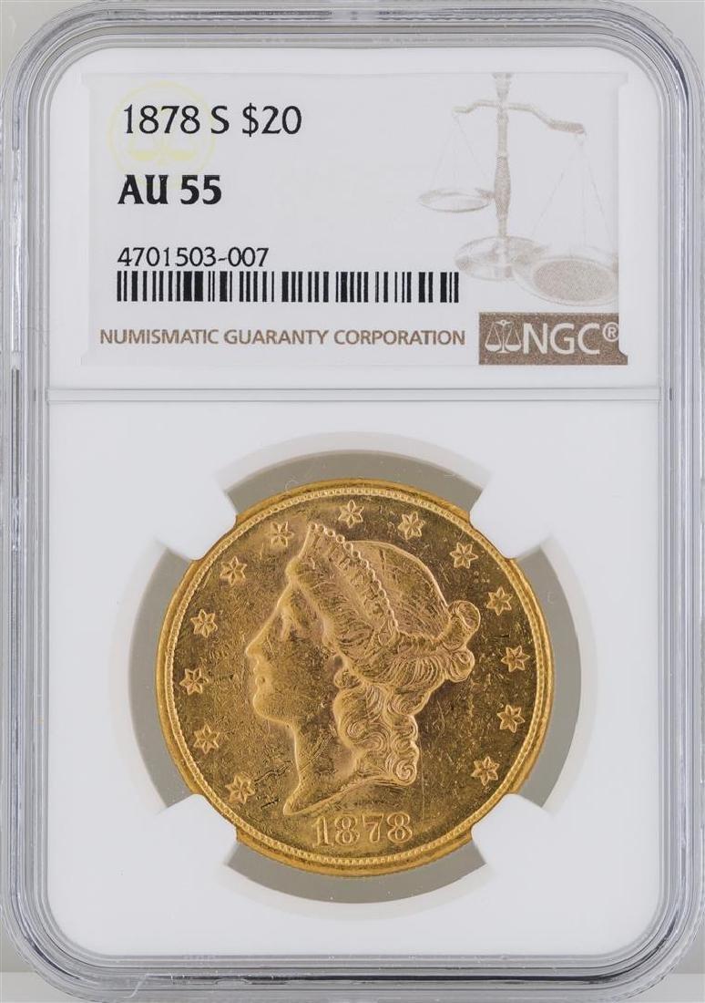 1878-S $20 Liberty Head Double Eagle Gold Coin ANACS