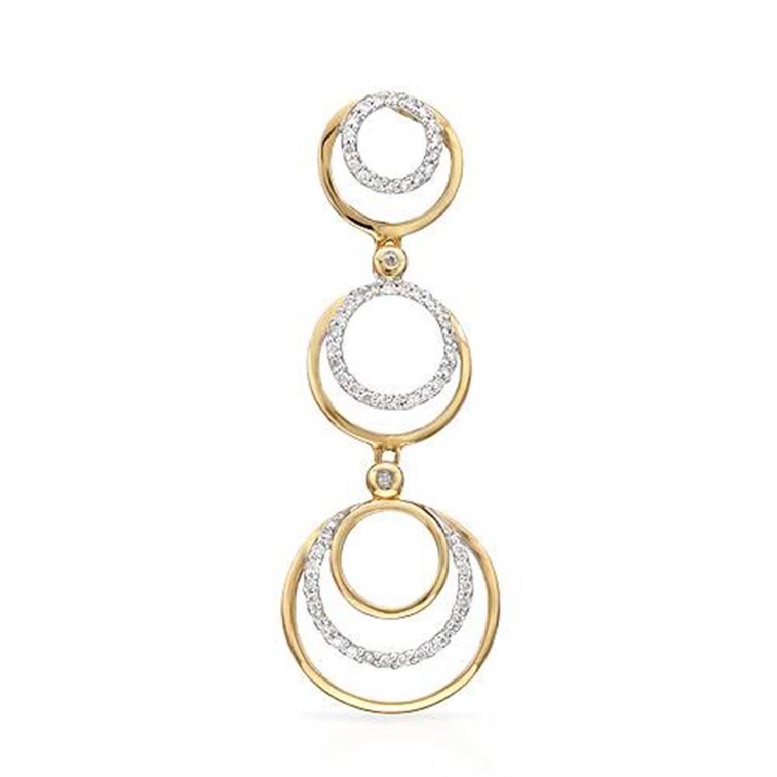 14k Two Tone Gold 0.28CTW Diamond Pendant, (I2/H-I)
