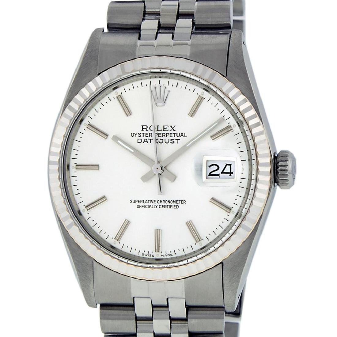 Rolex Mens Stainless Steel 36MM Silver Index Datejust