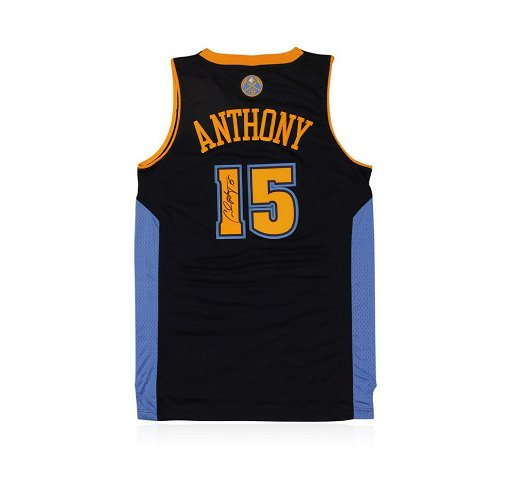 free shipping b25b2 58ca3 Denver Nuggets Carmelo Anthony Autographed Jersey
