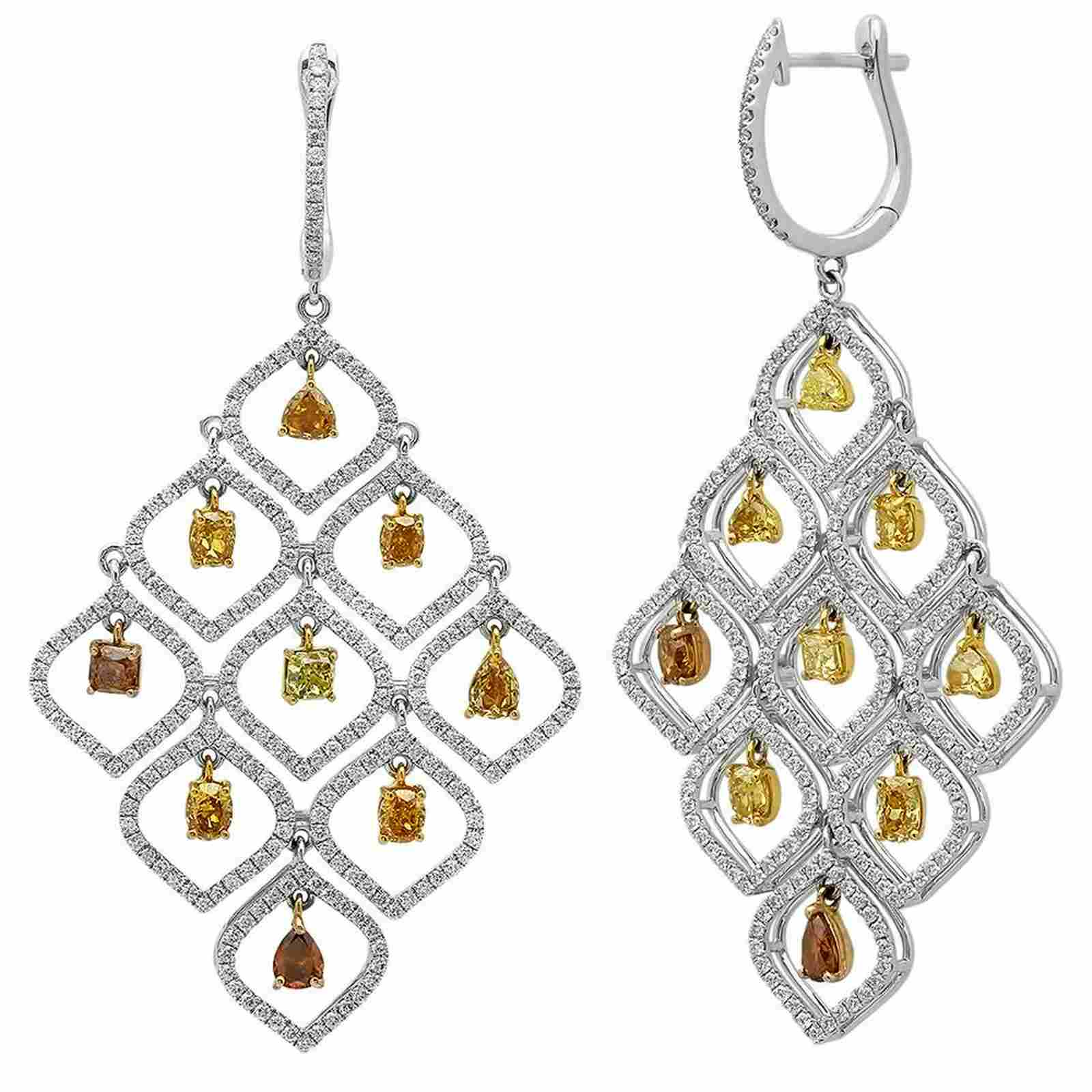 7.04CTW Diamond Earrings, (VS)